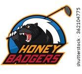 honey badger golf logo | Shutterstock .eps vector #362104775
