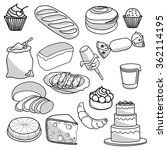 vector collection of breads | Shutterstock .eps vector #362114195