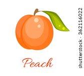 Peach Isolated Vector Icon....