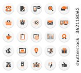 color modern icons on white... | Shutterstock .eps vector #362118062