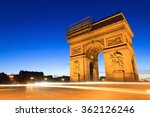 beautiful night view of the arc ... | Shutterstock . vector #362126246