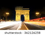beautiful night view of the arc ... | Shutterstock . vector #362126258