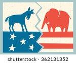 democrat donkey versus... | Shutterstock .eps vector #362131352