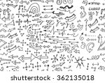 hand drawn doodle seamless... | Shutterstock .eps vector #362135018