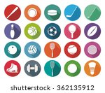 set of sport icons in flat... | Shutterstock .eps vector #362135912