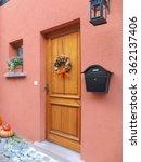 A Nature Wooden Front Door To ...