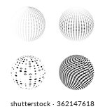 set of logos . vector  globes . ... | Shutterstock .eps vector #362147618
