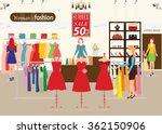 Women Shopping In A Clothing...