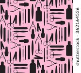 seamless pattern with tools for ... | Shutterstock .eps vector #362164526
