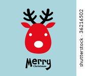 vector elk of christmas card | Shutterstock .eps vector #36216502