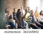 business team meeting seminar... | Shutterstock . vector #362165852