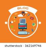 blog management design    Shutterstock .eps vector #362169746
