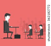 managing sitting in the office... | Shutterstock .eps vector #362182772