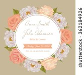 flower wedding invitation card  ... | Shutterstock .eps vector #362184926