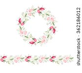 floral round garland and... | Shutterstock .eps vector #362186012