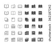 book icons  included normal and ... | Shutterstock .eps vector #362187242