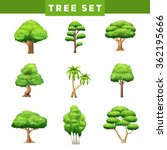 Green Trees Flat Pictograms...