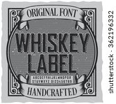 whiskey label font and sample... | Shutterstock .eps vector #362196332