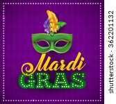 mardi gras party mask poster.... | Shutterstock .eps vector #362201132