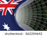 national flag of australia with ... | Shutterstock . vector #362204642