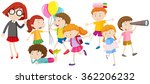 children doing different... | Shutterstock .eps vector #362206232