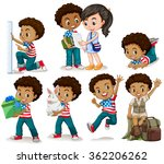 african american boy doing... | Shutterstock .eps vector #362206262