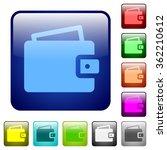 set of wallet color glass...