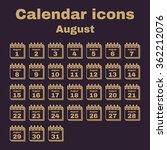 the calendar icon.  august... | Shutterstock .eps vector #362212076