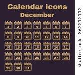 the calendar icon.  december... | Shutterstock .eps vector #362212112