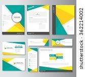 yellow green business card...   Shutterstock .eps vector #362214002