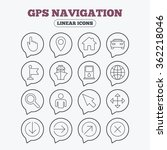 gps navigation icons. car and... | Shutterstock .eps vector #362218046