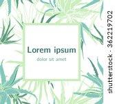 elegant herbal template.... | Shutterstock .eps vector #362219702