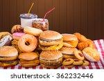 Multiple Type Of Fast Food On...