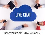 live chat group of people... | Shutterstock . vector #362235212