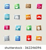 cafe card icons for web | Shutterstock .eps vector #362246096