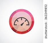 speedometer icon on white...