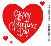 text of happy valentine's day... | Shutterstock .eps vector #362250782