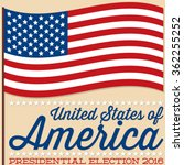Flag American election card in vector format. - stock vector