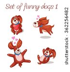 a set of funny dogs with hearts....   Shutterstock .eps vector #362256482