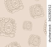 seamless pattern with symbol of ... | Shutterstock .eps vector #362282012