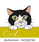 illustration muzzle black and... | Shutterstock .eps vector #362282768