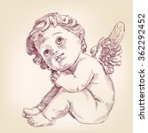 angel or cupid little baby l... | Shutterstock .eps vector #362292452