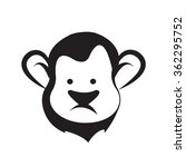 monkey head icon vector   Shutterstock .eps vector #362295752