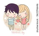 Lovely Girl And Boy. Valentine...