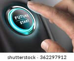finger about to press future... | Shutterstock . vector #362297912
