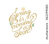 spring is coming soon handdrawn ... | Shutterstock .eps vector #362299082