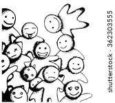 emotions doodle | Shutterstock .eps vector #362303555