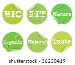 set of labels with words bio ...