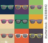 color of sunglasses | Shutterstock .eps vector #362308442