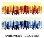 crowd of people walking on a... | Shutterstock .eps vector #36231280